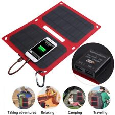 Dual USB 12W Waterproof Folding Solar Panel Battery Charger Power Bank For Phone