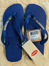 NWT Havaianas Women's Brazil Layers Marine Blue Flip-Flops Sandals EU37/38 US7/8