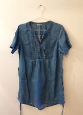 Women Blue Denim Tunic Dress Size 12 vgc