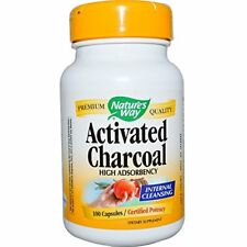 Nature's Way Activated Charcoal Internal Cleaning Supplement Health 100 Capsules