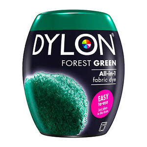 DYLON Textilfarbe Forest Green Color & Fixer for 600g Fabric Dye Machine