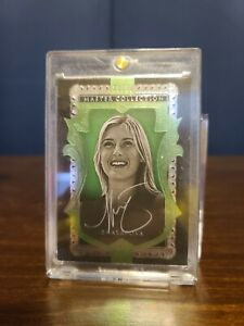 2016 Upper Deck Master Collection Maria Sharapova Green Parallel; 18/20