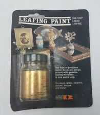 NOS 1975 Leafing Paint Illinois Bronze One-Step Liquid Leafing 1.oz Sealed