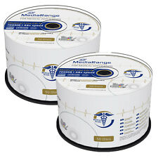 100 MediaRange Medical Line Printable Blank CD-R discs 700MB 80mins 48x MR229