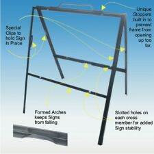 Angle Iron A-Frame black 3pc pack Real Estate 18x24 sign
