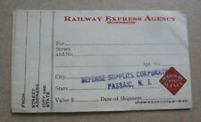 6 Old 1940 RAILWAY EXPRESS AGENCY Documents Defense Supplies Corp - PASSAIC N.J.