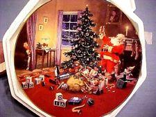 A Christmas Eve Visitor Santa Hamilton Collection Plate G Hinke W Coa Box Fship