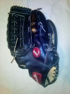 "Louisville Slugger HBG9 13.5"" Black LEATHER SOFTBALL GLOVE Mitt RHT SOFTBALLER"