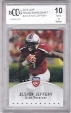 2012 Leaf Young Stars Football Card #4 Alshon Jeffery Rookie - BCCG Graded 10