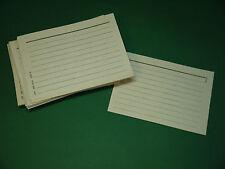 100 Karteikarten DDR A6 grau weiß Lernkarte Karteikarte Ostalgie liniert