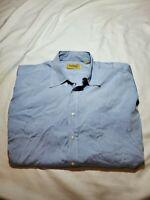 Paul Stuart Mens Blue Button up Dress Shirt Size 17.5 Neck 34 Sleeve pocket