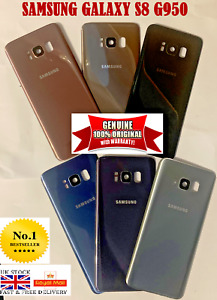 Genuine Samsung Galaxy S8 SM-G950F OEM Rear Back Glass Battery Cover Camera LENS