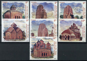 India Architecture Stamps 2020 MNH Terracotta Temples Religion Tourism 7v Set