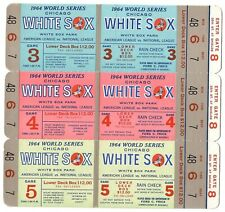1964 Chicago White Sox Phantom World Series Tickets Block of 3 Group of 5 NRMT