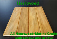 24 inch long Teak Tongue and Groove all heartwood, 20 square feet pack 44 boards