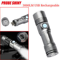 3000LM MINI Adjustable LED Zoom USB Rechargeable Flashlight Torch Portable Lamp