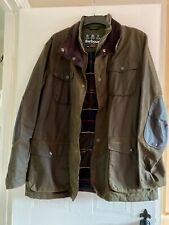 XXL Men's Barbour Classic Tartan Ogston Wax Jacket in Olive