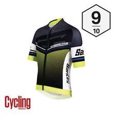 Maillots de ciclismo de manga corta amarillo talla XL