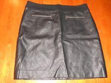 28884d251 Ann Taylor womens skirt size 10 P petite MINT cond black faux leather