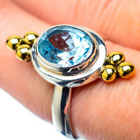 Blue Topaz Copper 925 Sterling Silver Ring Size 8 Ana Co Jewelry R28033F