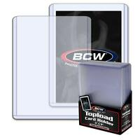 50 BCW Brand 3 x 4 x 2.75mm Jersey Relic Thick Card Topload Holder 108 pt