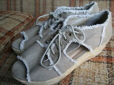 "RuffHewn Womens Size 9 1/2M ""Stella"" Espadrille-Wedge (2.75"") Sandal-Shoes 591"