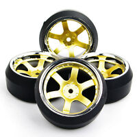 PP0040+PP0367 3° Drift Tires & Wheel Rim 12mm Hex Fit HSP 1/10 RC On-Road Car