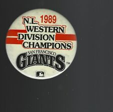 1989 San Francisco Giants National League West Champions 3-Inch Pinback Button