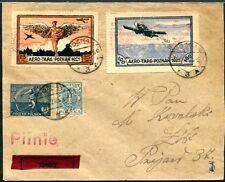 POLEN 1921 I-II FLUG auf SAMMLERBELEG (S7824