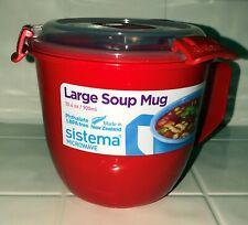 Sistema Large Microwave Cookware Soup Mug, 30.4 oz, Red