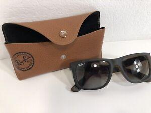Ray-Ban Justin Polarized Sunglasses & Case RB 4165 865/T5 54-16 145 See Descript