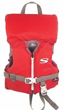 Coleman Stearns Classic Series Infant Life Jacket Vest with Rescue Handle, Red