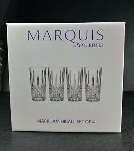 Marquis by Waterford 165119 Markham Hiball Collins Glasses, Set of 4 New in Box