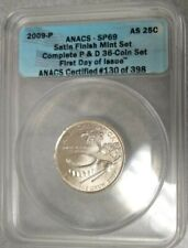 2009 P American Samoa Quarter ANACS SP69 - 25c SMS Satin First Day MS