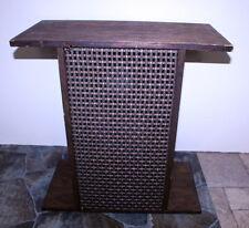 """Vintage Realistic Radio Shack Hand Made Oak Speaker Table ~ 8"""" Woofer 3"""" Tweeter"""