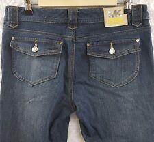 Michael Kors 8 P Jeans W/ Pocket Flaps Medium Wash   MY-25