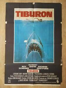 Cartel Estreno cines en España TIBURÓN (JAWS) Año 1975 (ÚNICO EN EBAY)