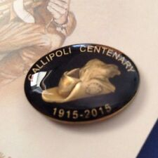 Gallipoli Centenary 1915-2015 Slouch Hat With Emu Plumes Lapel *ANZAC Day