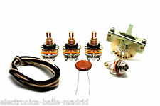FENDER STRATOCASTER EXTRA VINTAGE WIRING KIT WITH NOS 0.05uf CERAMIC CAPACITORS