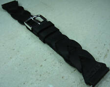Timex H2O Resist. Braided Leather 20mm Watch Band Fits Digital,Military,Sport