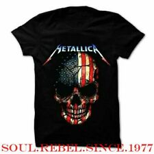 METALLICA USA FLAG HEAVY METAL  PUNK ROCK  MEN'S SIZES  T SHIRT