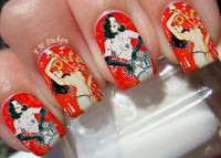 Cabaret Woman A1035 Nail Art Stickers Transfers Decals Set of 22