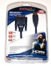 Impact Acoustics Velocity 6.6FT High Speed HDMI to DVI Cable Model: 40320