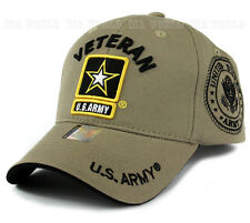 U.S. ARMY hat cap Military VETERAN ARMY STRONG Licensed Baseball cap-Khaki Beige