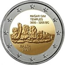 PIECES EURO COMMEMORATIVE MALTE 2017 TEMPLE HAGAR QIM
