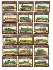 Set of 18 Cornish Match Co matchbox labels Vintage Railway Engines Ac52 3p