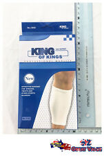 White Sports Calf Shin Leg Elastic Compression Brace Support and Protection