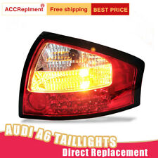 For Audi A6 LED Taillights Assembly Red LED Rear Lamps 2000-2004