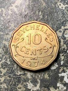 1974 Seychelles 10 Cent Lot#Z6646 High Grade! Beautiful!