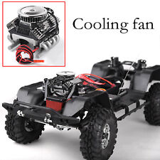 V8 Simulate Engine Motor Cooling Fan for 1/10 TRX4 SCX10 RC4WD D90 RC Crawler